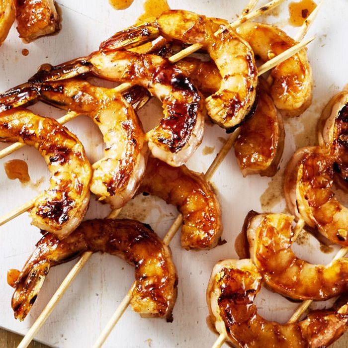 Chili-Honey-Garlic Shrimp Kebabs