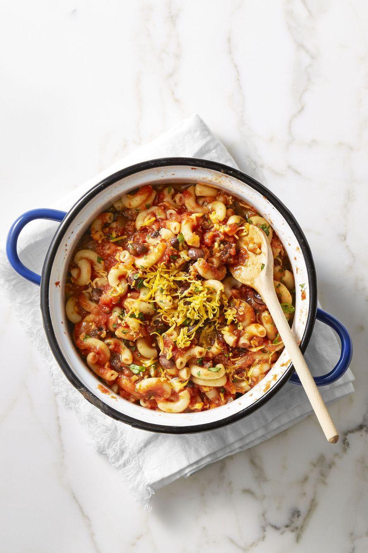 vegetarian chili macaroni - vegetarian thanksgiving recipes
