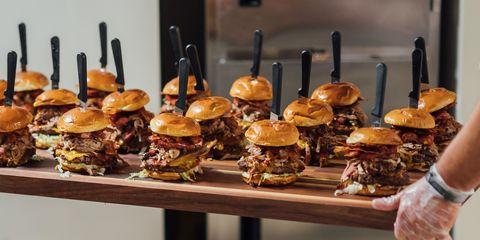 Food, Junk food, Dish, Cuisine, Hamburger, Finger food, appetizer, Ingredient, Slider, American food,