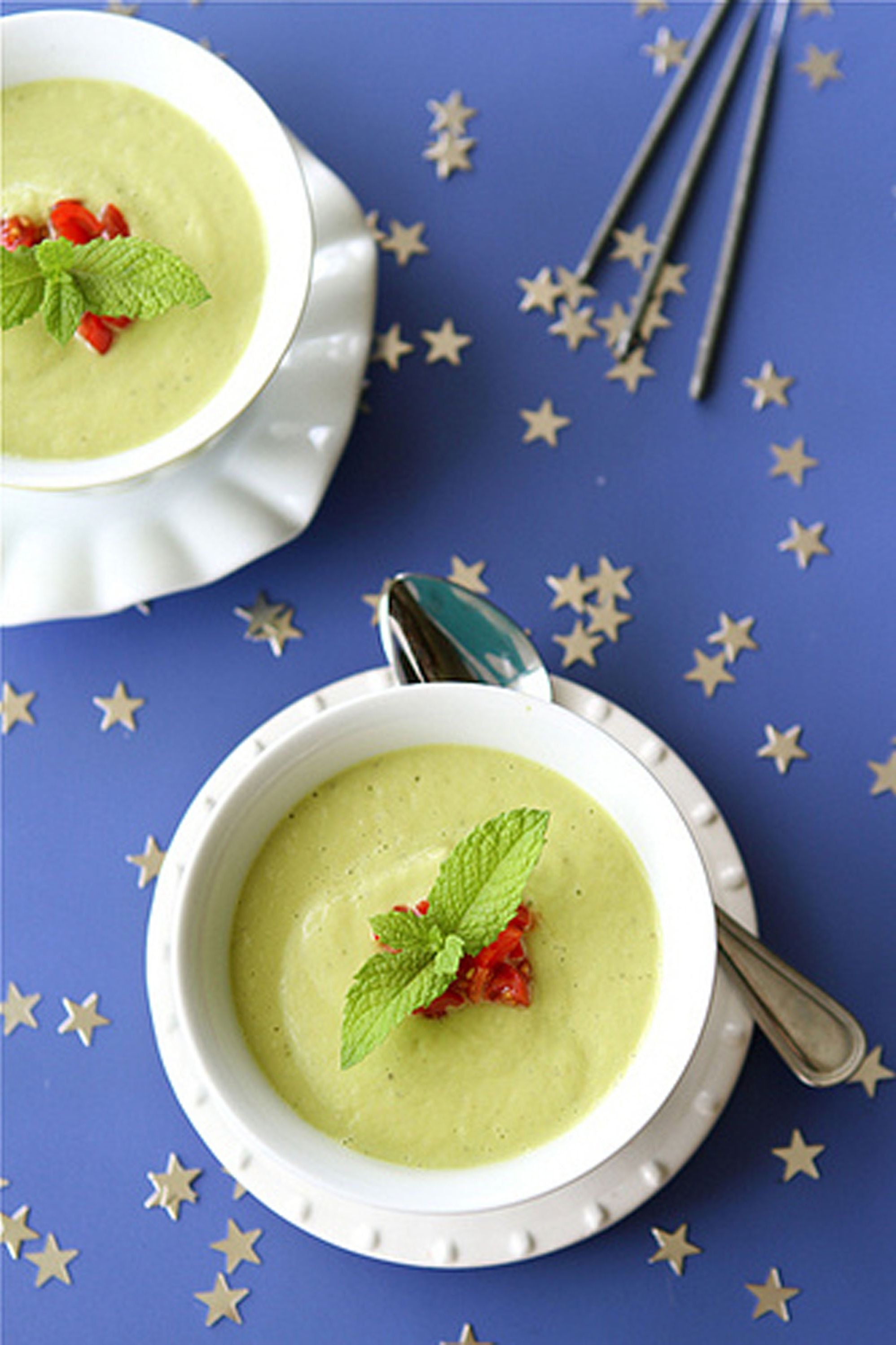 chilled soup avocado