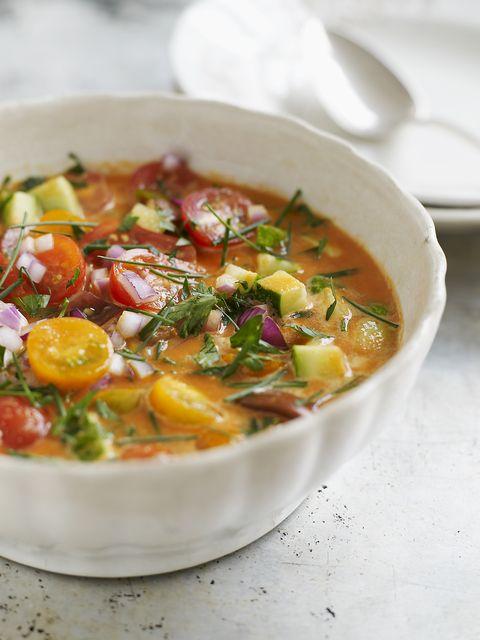 chilled summer gazpacho