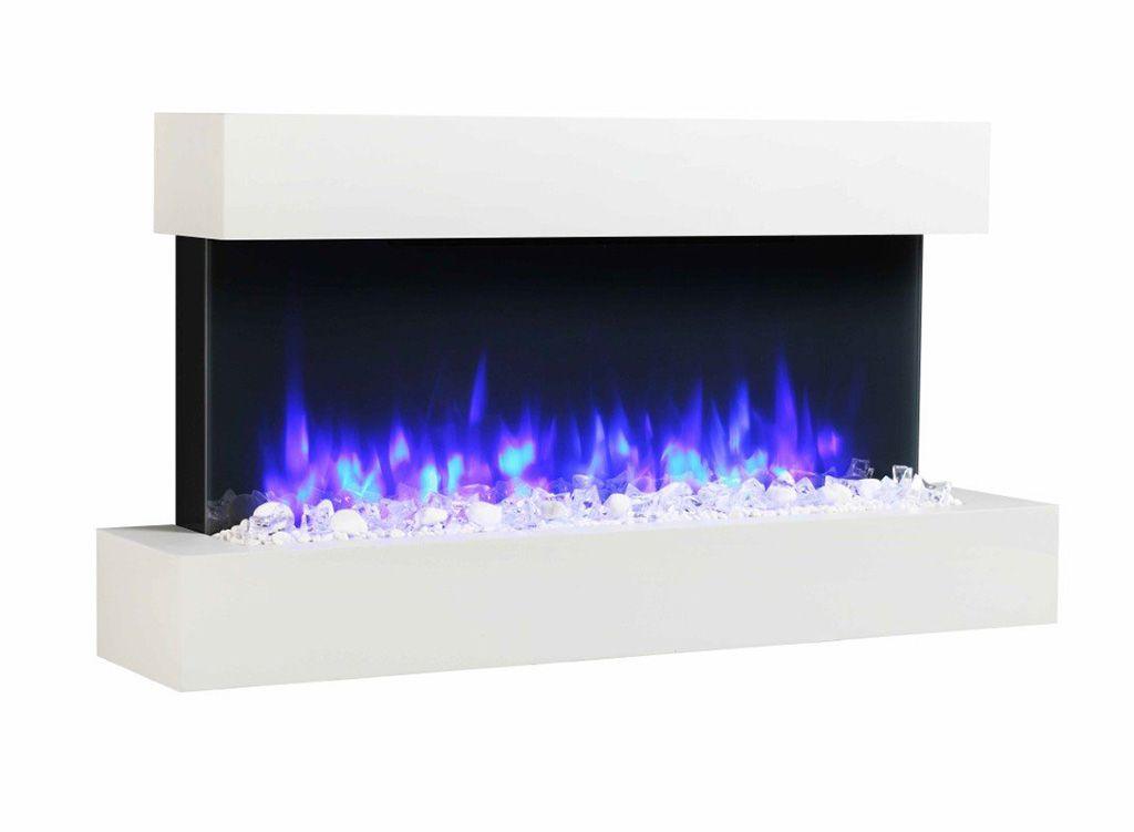 Calefactor eléctrico con forma de chimenea