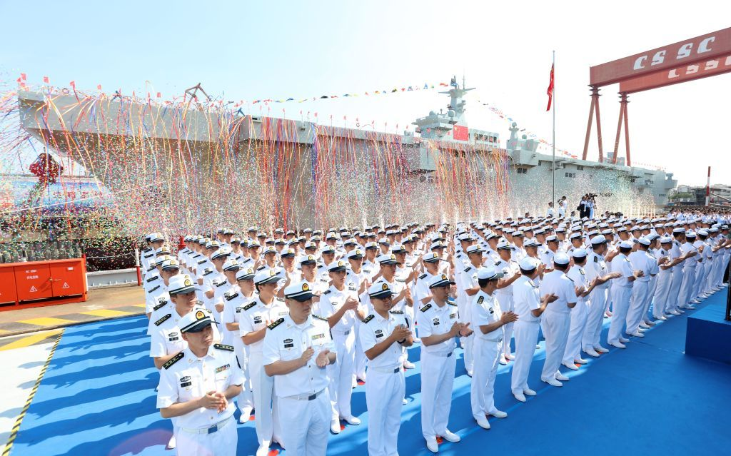 China Launches Its First Amphibious Assault Ship