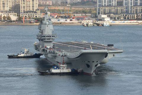 China's First Domestically-built Aircraft Carrier Begins Its Ninth Sea Trial
