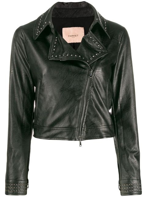 Clothing, Jacket, Leather, Outerwear, Leather jacket, Black, Sleeve, Textile, Zipper, Top,