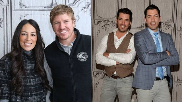 chip and jo on the left, property bros on the right