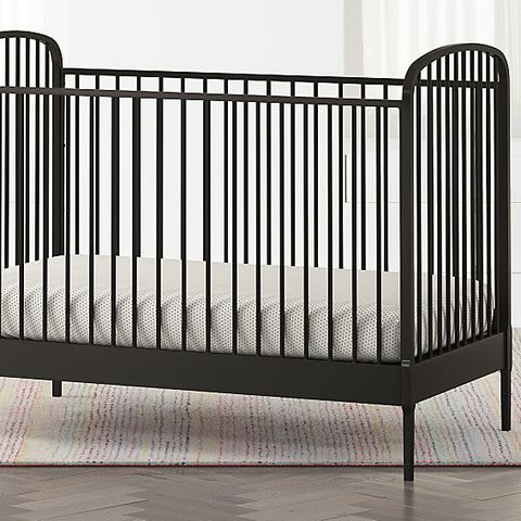 chip joanna gaines nursery black metal crib