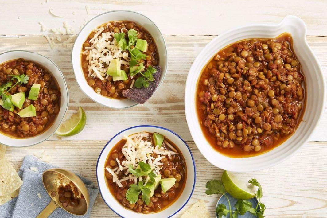 chipotle lentil chili - instant pot thanksgiving recipes