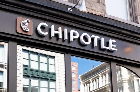 Chipotle restaurant in New York City...