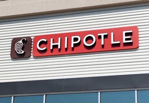 Chipotle restaurant in Teterboro, New Jersey...