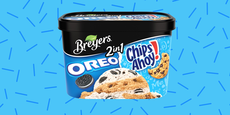 Breyers New Ice Cream Has Chips Ahoy And Oreos Inside