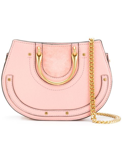 Handbag, Bag, Pink, Shoulder bag, Fashion accessory, Leather, Beige, Satchel, Peach, Metal,