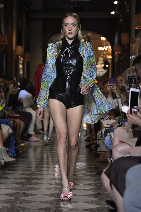 ee182b616ff A Miu Miu-clad Chloë Sevigny took to the runway at Hotel Regina in Paris on  30 June