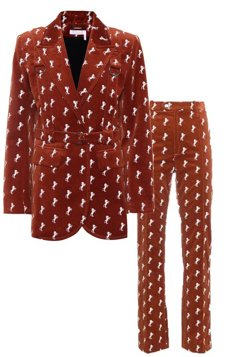 cult fashion items, Chloé horse-printed suit