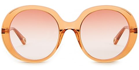 chloe, esther orange ovalframe sunglasses  £22500, women's sunglasses, bold sunglasses