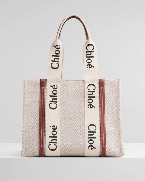 chloé woody 咖啡色中型托特包
