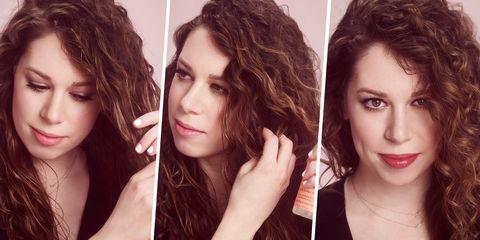 Hair, Face, Hairstyle, Eyebrow, Lip, Chin, Beauty, Nose, Brown hair, Head,