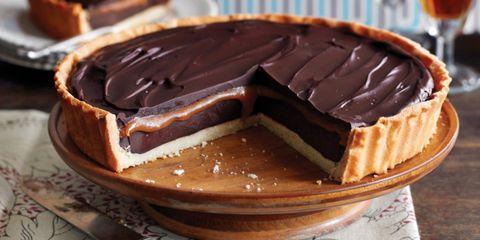 Chocoladetaart zoute caramel