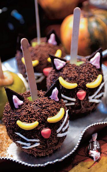 Chocolate Apple Cat Faces