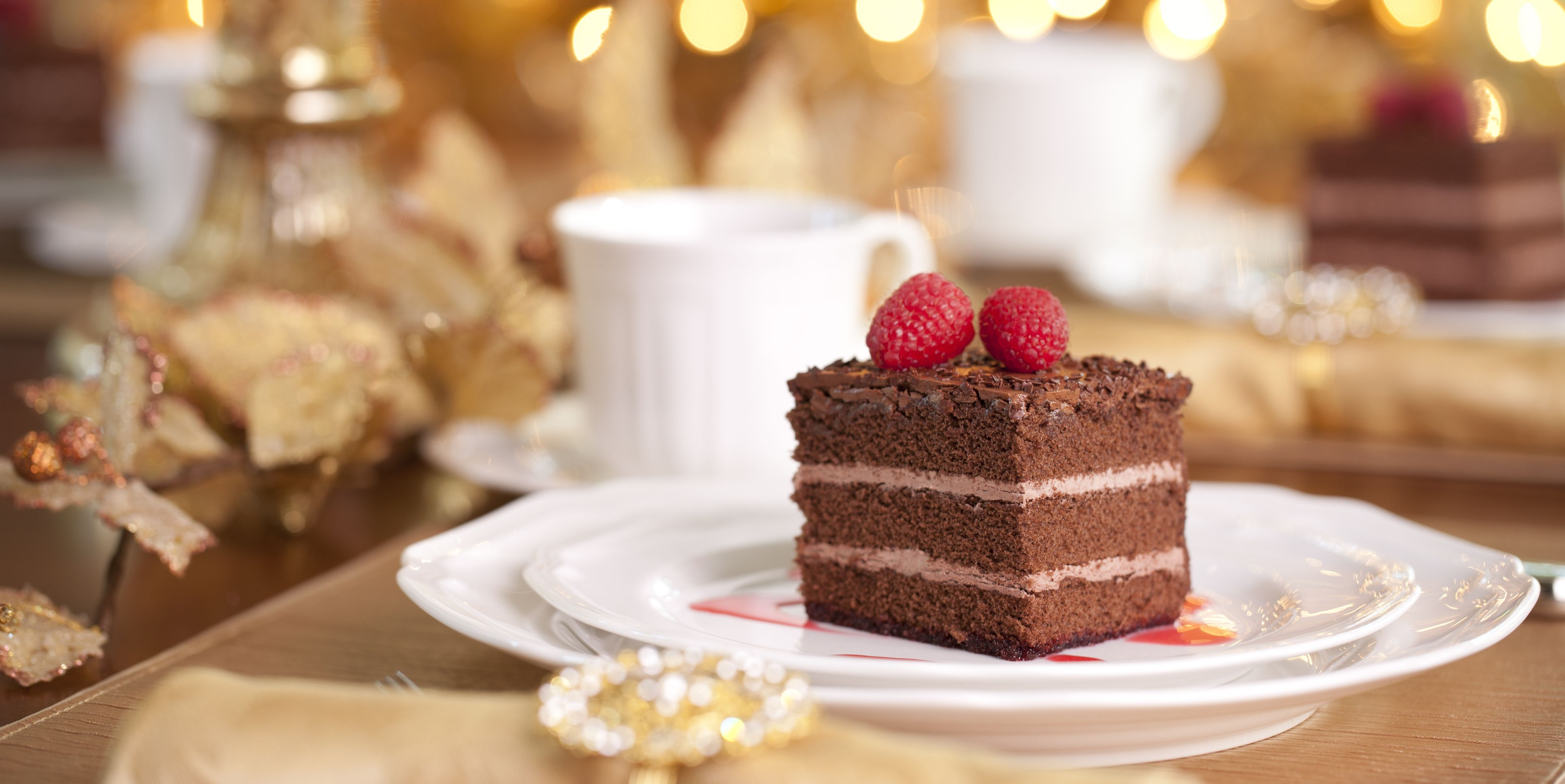 Christmas dessert chocolate cake