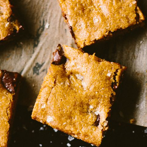 after school snacks   salted chocolate chip cookie bars