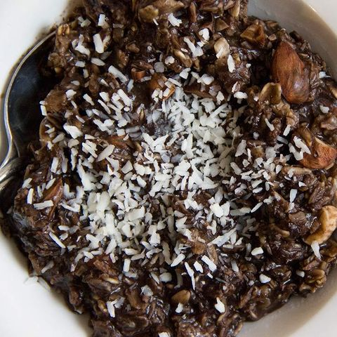Coconut chocolate DIY oatmeal