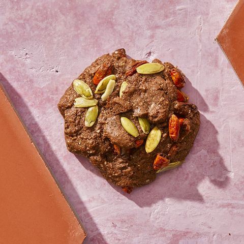 Chocolate Protein Cookies With Goji Berries Pumpkin Seeds Recipe