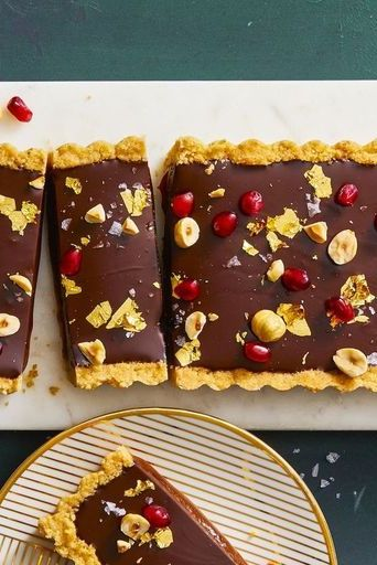 Chocolate, Hazelnut & Caramel Tart - Valentine's Day Desserts