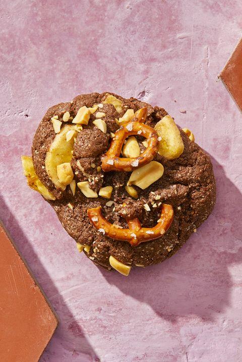 Food, Cuisine, Dish, Ingredient, Baked goods, Dessert, Sweetness, Chocolate, Baking, Doughnut,