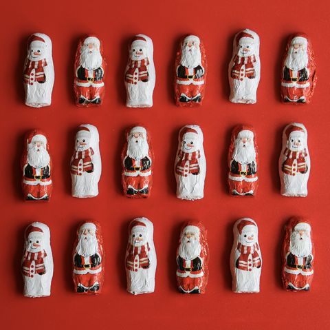 Chocolate Santa and Snowmen sweets