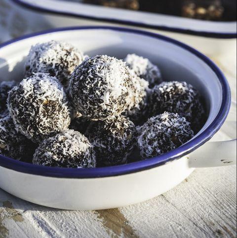chocolate walnut energy balls and bars