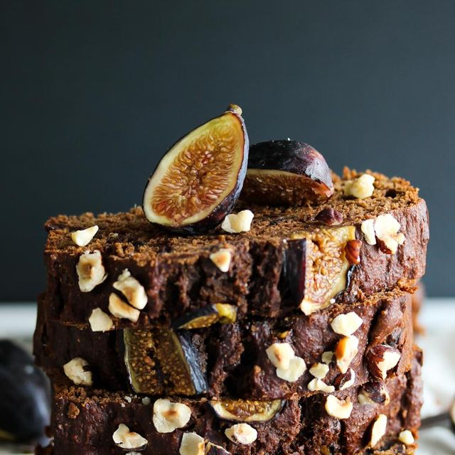 whole wheat chocolate almond butter fig bread