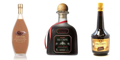 Liqueur, Drink, Alcoholic beverage, Distilled beverage, Bottle, Glass bottle, Product, Alcohol, Liqueur coffee, Wine bottle,