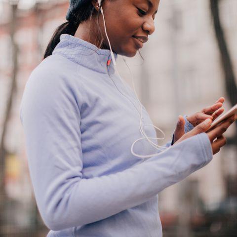 Choosing favorite workout music
