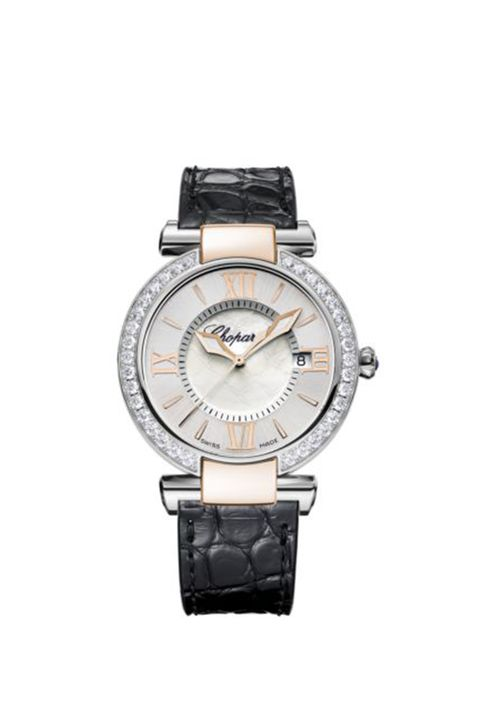 chopard imperiale 36 mm, quartz, rose gold, stainless steel, diamonds