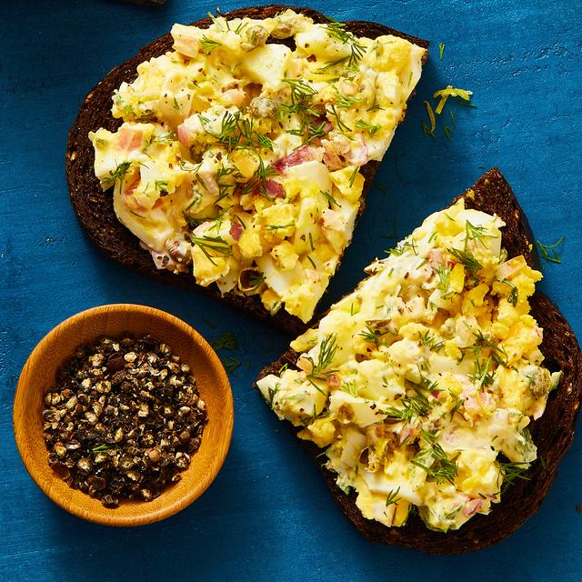 chopped egg salad toast