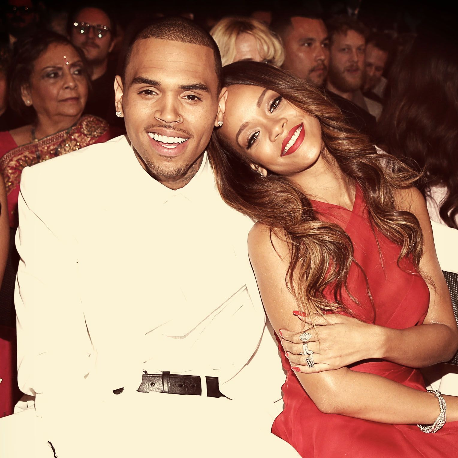 Chris Brown and Rihanna Chris and Rihanna were the It couple of R&B, so it was completely shocking when news broke in 2009 that Chris had been arrested for assaulting his girlfriend after a pre-Grammys party. The two split, eventually reconciled, and finally broke up for good, to the relief of fans.