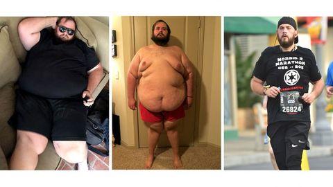 Christopher, hasty, perder, peso, running