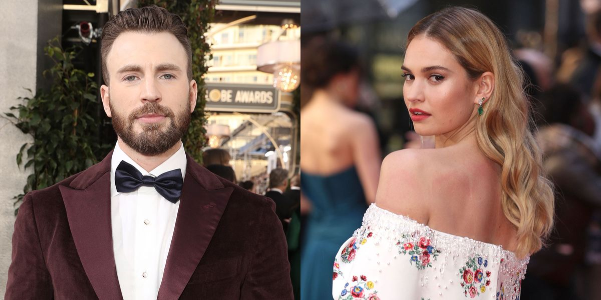 Are Chris Evans and Lily James Dating? - London Sighting Details