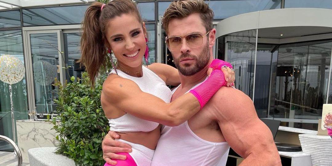 Elsa Pataky y Chris Hemsworth con su look más divertido (y deportivo) en una fiesta ochentera