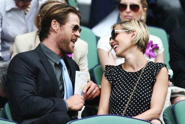 la atractiva pareja formada por  chris hemsworth y elsa pataky