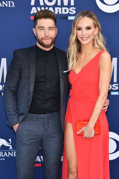 chris lane lauren bushnell 54th academy of country music awards