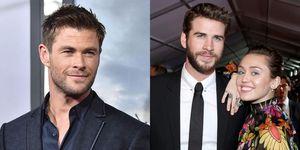 Chris Hemsworth, Liam Hemsworth, and Miley Cyrus