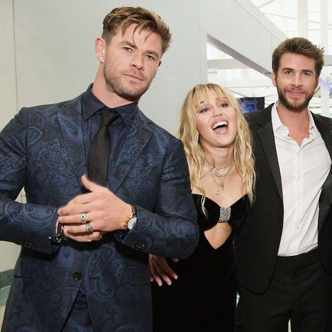 Chris Hemsworth, Miley Cyrus, and Liam Hemsworth