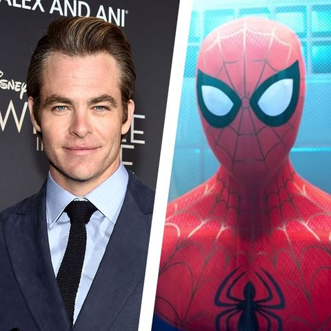 chris pine spider-man spiderverse