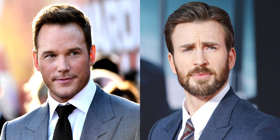 Chris Pratt and Chris Evans There is an abundance of Chrises in the Marvel Cinematic Universe, and sometimes fans can't keep them straight. During an episode of Billy on the Street , Pratt was mistaken for Evans by a fan.
