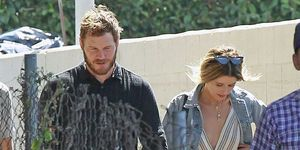 Katherine Schwarzenegger and Chris Pratt are all smiles as they are seen after attending Church service on Sunday in Los Angeles.
