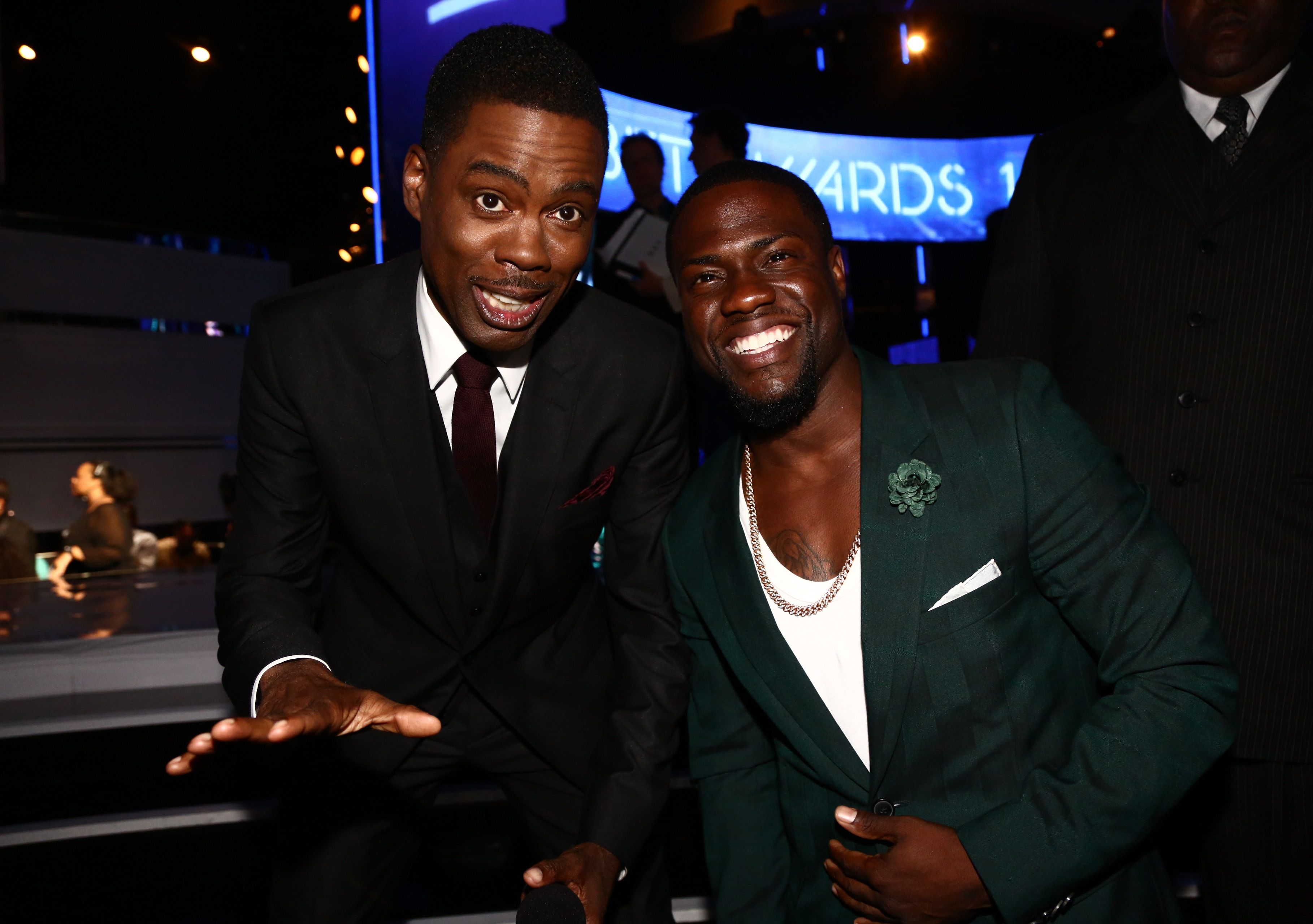 "Chris Rock and Kevin Hart Hart has a great attitude about being mistaken for his fellow comedian. ""These are the moments that keep me Humble 😂😂😂😂😂  #RockTheWorld #AllYouCanDoIsLaugh,"" he captioned an Instagram video of himself with a fan who thought he was Rock."