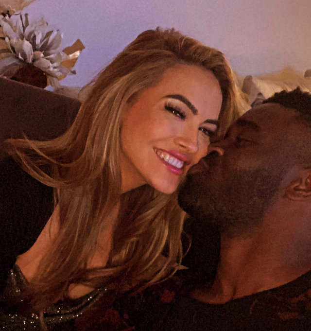chrishell stause and keo motsepe cuddle up together