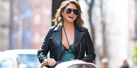 Eyewear, Street fashion, Sunglasses, Leather, Jacket, Leather jacket, Fashion, Blond, aviator sunglass, Outerwear,